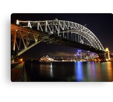 Sydney Harbour Bridge at Night, Australia Canvas Print