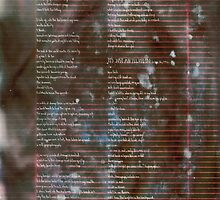 150 - Scattered Resistance -  Poetry Full Page by wetdryvac
