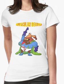 Muscular Beaver Womens Fitted T-Shirt