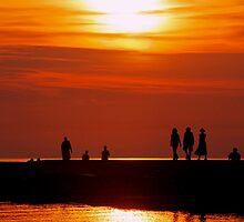 Sunset Promenade 1 by Jan Cartwright