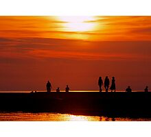 Sunset Promenade 1 Photographic Print