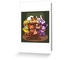 Performing for you live! Greeting Card