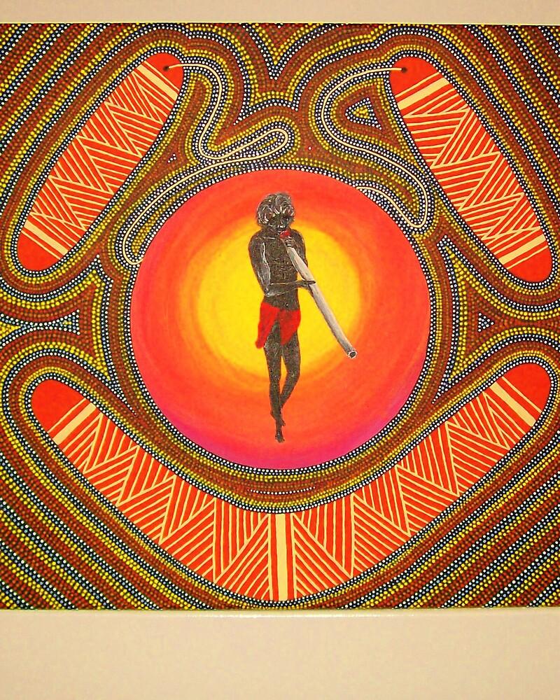Sun spirit calling by Derek Trayner