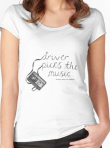 Driver Picks The Music Shotgun Shuts His Cakehole Women's Fitted Scoop T-Shirt