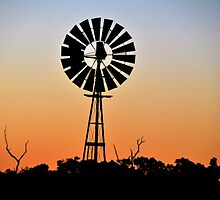 Sunset Windmill by Deborah Clearwater