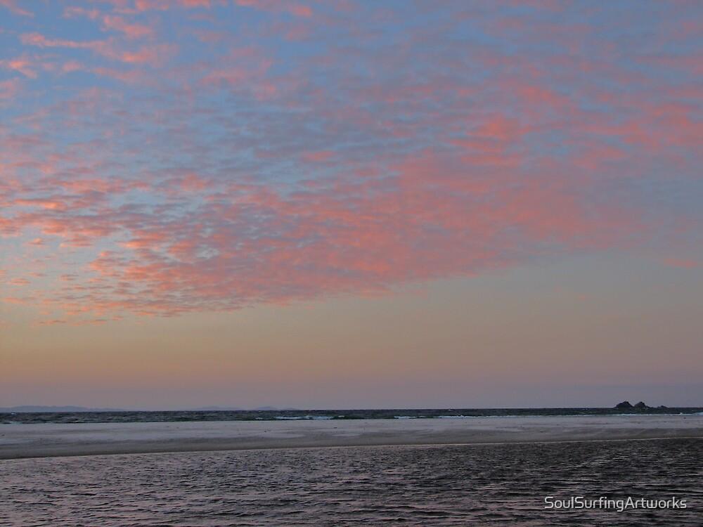 Byron Bay Sunset by SoulSurfingArtworks