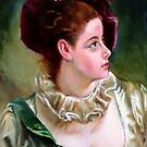 study woman after Gustave Jean Jacquet by Hidemi Tada