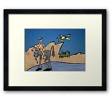 Desert Journey Framed Print