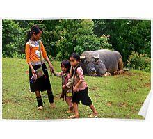 Joyful Children IV - Sa Pa, Vietnam. Poster