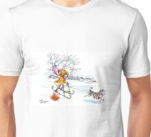 Dogsledding in the city! -largest (posters, prints) Unisex T-Shirt