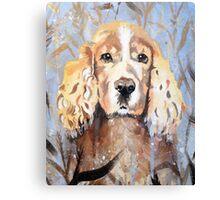 Cocker Spaniel in meadow Canvas Print