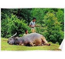 Joyful Children V - Sa Pa, Vietnam. Poster