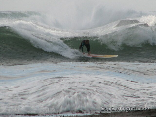 Surfing the Barrell by SoulSurfingArtworks