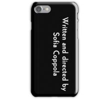 sofia coppola iPhone Case/Skin