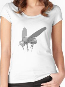 Grey fly Women's Fitted Scoop T-Shirt
