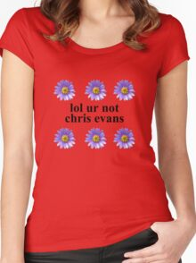 lol ur not Women's Fitted Scoop T-Shirt