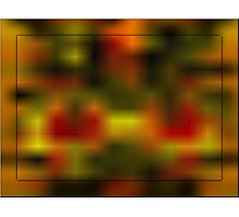 red orange abstract Photographic Print