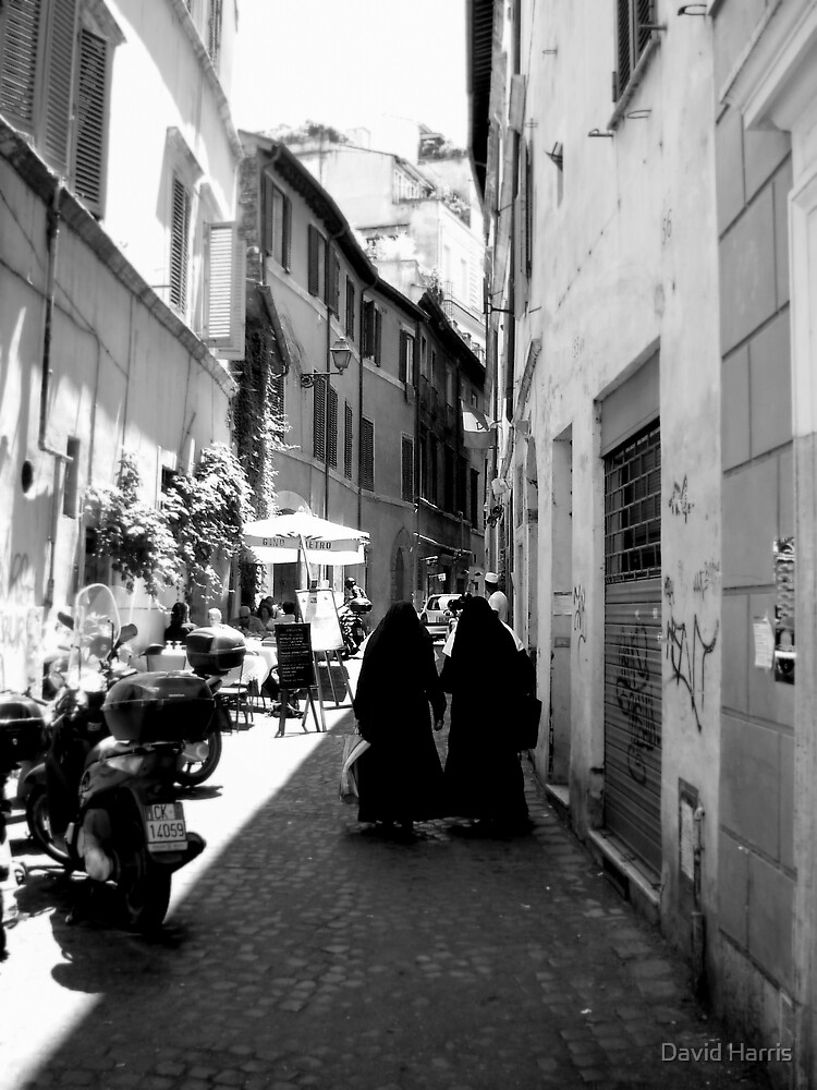 Nuns in a Rome street by David Harris