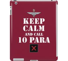 KEEP CALM AND CALL 10 PARA iPad Case/Skin