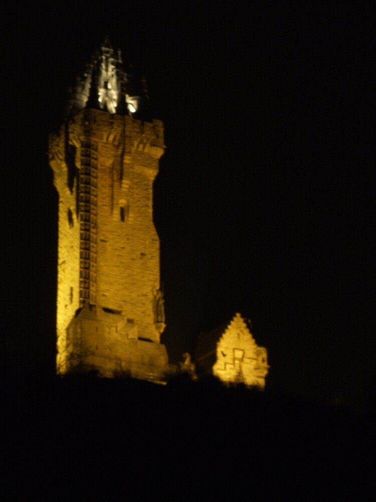 The Wallace Monument at Night by Alan Findlater