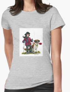 What? No snow?!!! Womens Fitted T-Shirt
