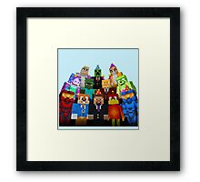 MineWorld4 Framed Print