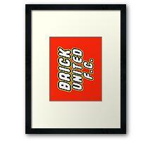 BRICK UNITED FC Framed Print