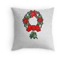 Tri Christmas Wreath Throw Pillow