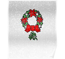 Tri Christmas Wreath Poster