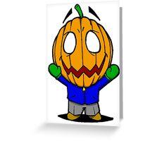 Halloweenies Pumpkin Jacko Greeting Card