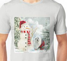 Snowdrop the Maltese & The Jolly Snowman Unisex T-Shirt