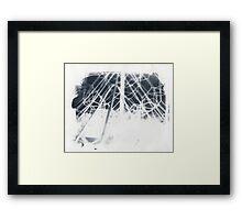 cyanotype web Framed Print