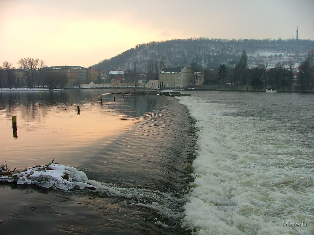 A weir in Prague by MisterD