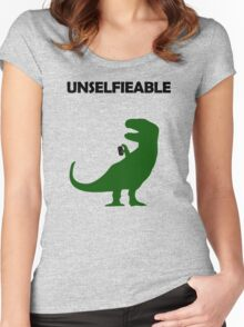 Unselfieable T-Rex Women's Fitted Scoop T-Shirt