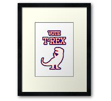 Vote T-Rex Framed Print