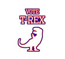 Vote T-Rex Photographic Print