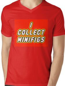 I COLLECT MINIFIGS  Mens V-Neck T-Shirt