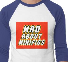 MAD ABOUT MINIFIGS Men's Baseball ¾ T-Shirt