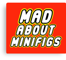 MAD ABOUT MINIFIGS Canvas Print