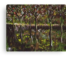 Trees and undergrowth (from my original acrylic painting) Canvas Print