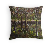 Trees and undergrowth (from my original acrylic painting) Throw Pillow