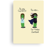 Courgette and The Masked Zucchini: double-life of a vegetable superhero Canvas Print