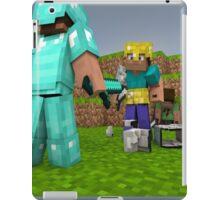 Minecraft Fight Scene iPad Case/Skin