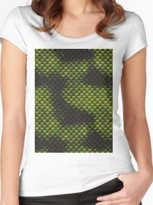 Snake Skin Texture 3 Women's Fitted Scoop T-Shirt
