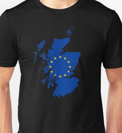 Scotland Map with EU Flag Unisex T-Shirt