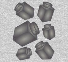 1 x 1 Bricks (AKA Falling Bricks)  One Piece - Short Sleeve