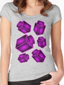 1 x 1 Bricks (AKA Falling Bricks)  Women's Fitted Scoop T-Shirt