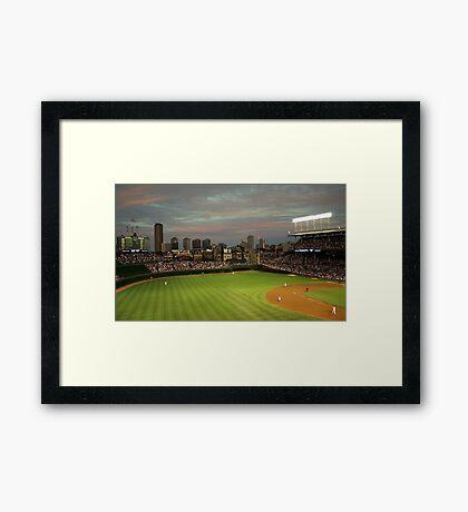 Wrigley Field at Dusk Framed Print