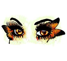 Brown eyes with butterfly Photographic Print
