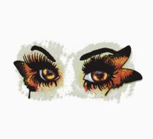 Brown eyes with butterfly Kids Tee